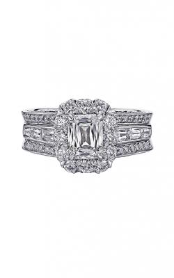 Christopher Designs Crisscut Emerald Engagement ring 76RSB-EC100 product image