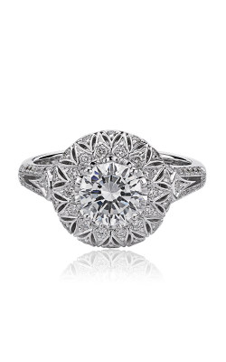 Christopher Designs Crisscut Round Engagement Ring G66R-RD100 product image
