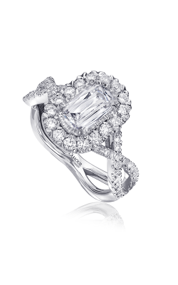 Christopher Designs Crisscut L'Amour Engagement Ring L193-075 product image