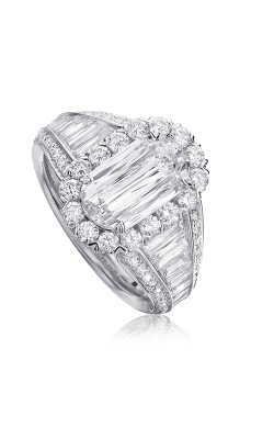 Christopher Designs Crisscut L'Amour Engagement Ring L197-100 product image