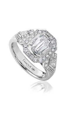 Christopher Designs Crisscut L'Amour Engagement Ring L230-100 product image