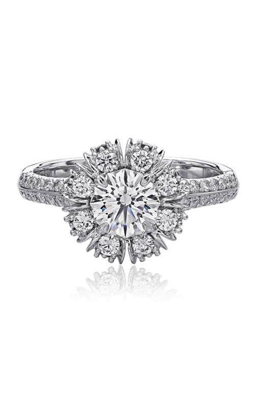 Christopher Designs Crisscut Round Engagement ring 647-RD085 product image