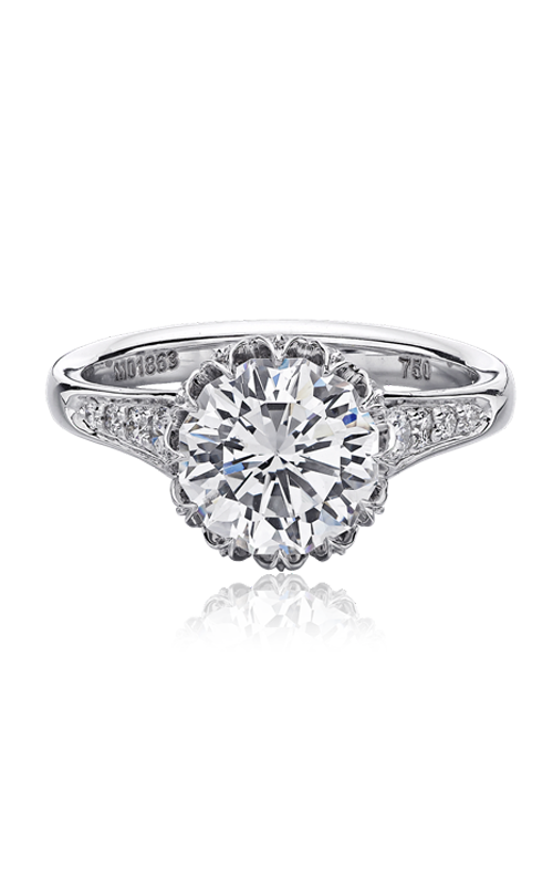Christopher Designs Crisscut Round Engagement ring 624-RD200 product image