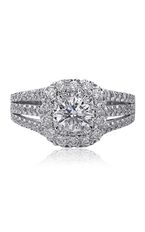 Christopher Designs Crisscut Round Engagement ring 615F-CURD075 product image