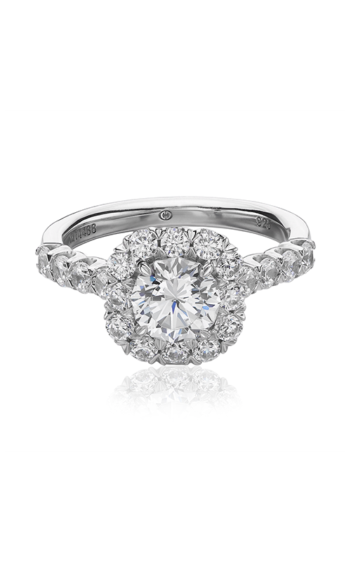 Christopher Designs Crisscut Round Engagement ring G52-CURD100 product image