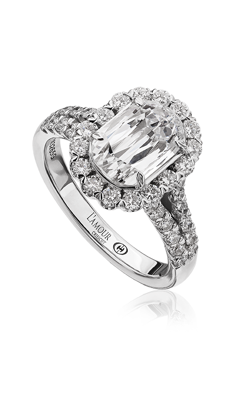 Christopher Designs Crisscut L'Amour Engagement ring L144-100 product image