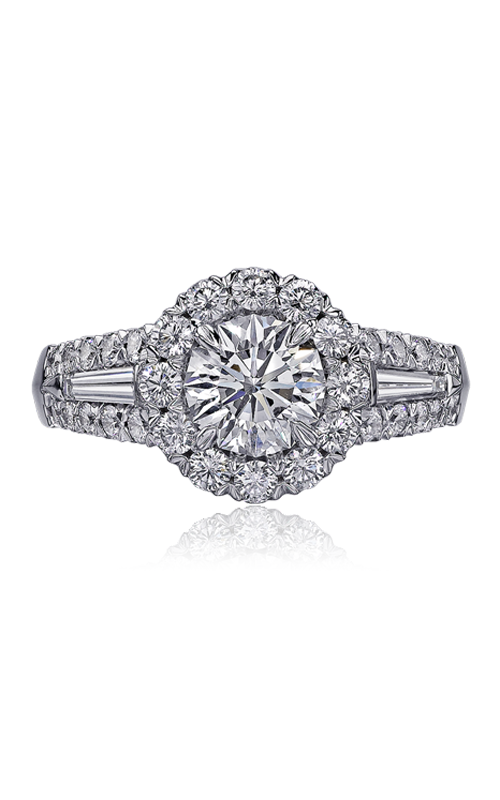 Christopher Designs Crisscut Round Engagement ring 56R-RD100 product image