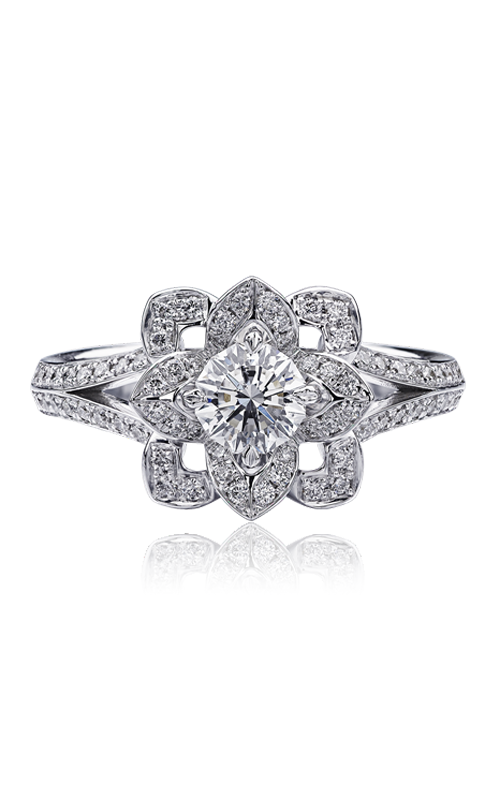 Christopher Designs Crisscut Round Engagement ring 601R-RD050 product image