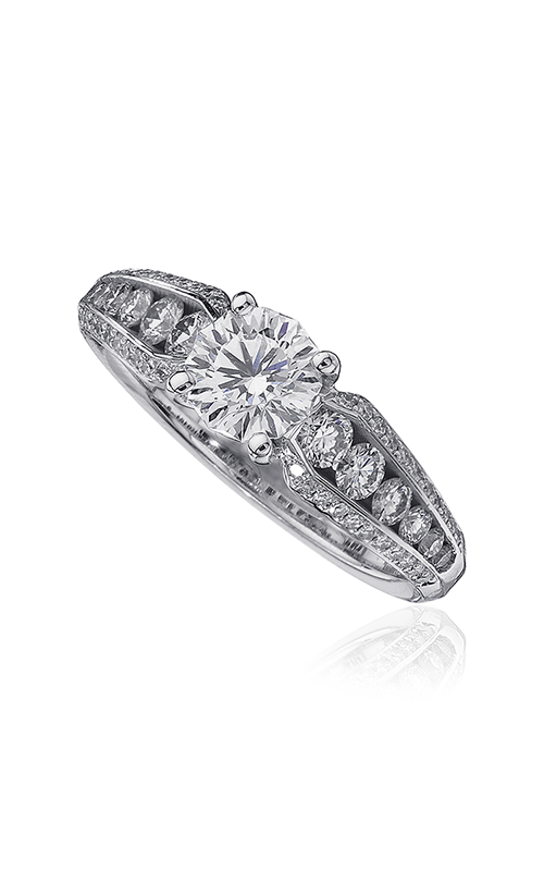 Christopher Designs Crisscut Round Engagement ring 62ENGRD100 product image