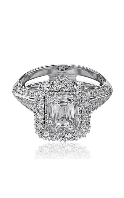 Christopher Designs Crisscut Emerald Engagement ring 69RR-EC200 product image