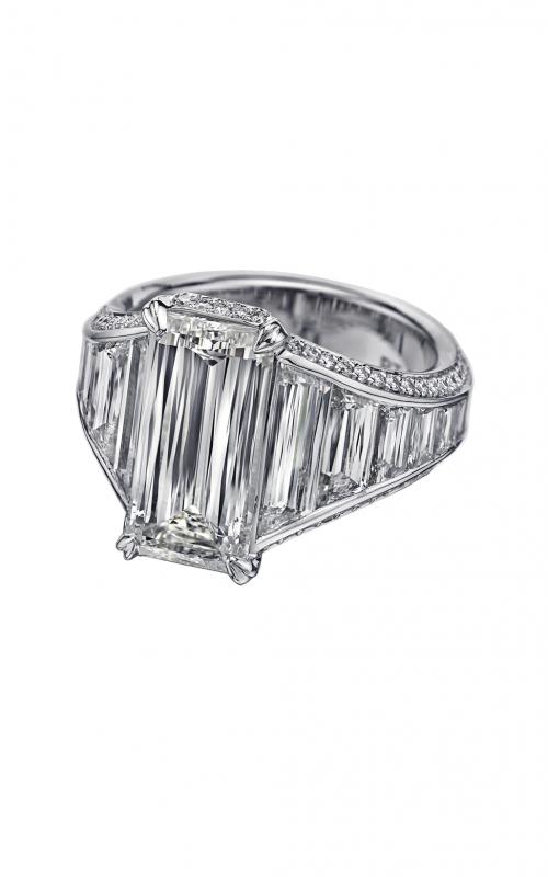 Christopher Designs Crisscut Emerald Engagement ring 97C-EC product image