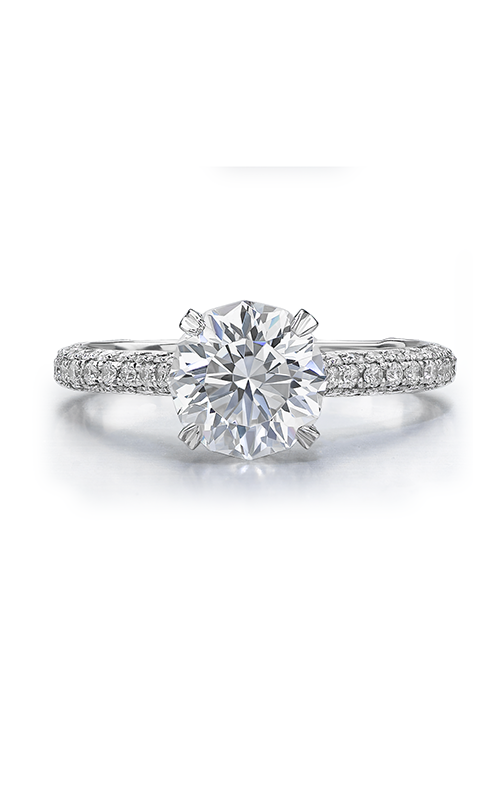 Christopher Designs Crisscut Round Engagement ring D97E-RD150 product image