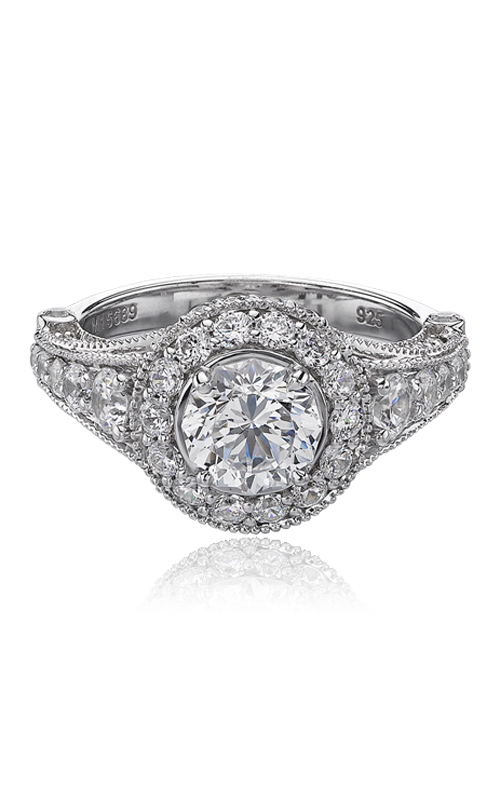 Christopher Designs Crisscut Round Engagement ring G38-RD100 product image