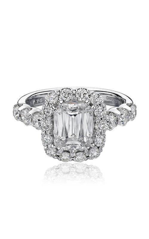 Christopher Designs Crisscut Emerald Engagement ring G52-EC200 product image