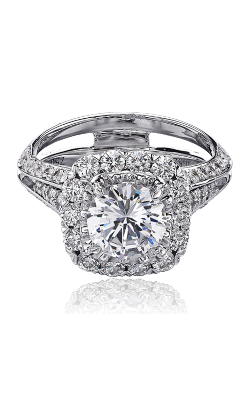 Christopher Designs Crisscut Round Engagement ring G65-CURD150 product image