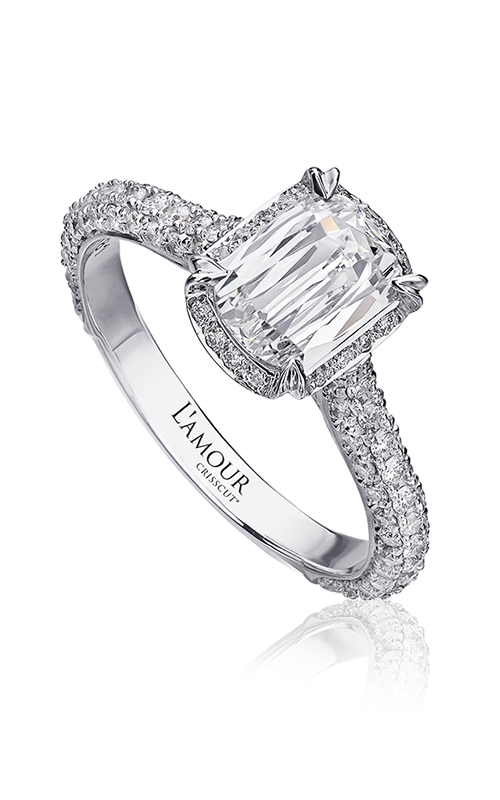 Christopher Designs Crisscut L'Amour Engagement ring L142-100 product image