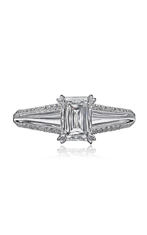 Christopher Designs Crisscut Emerald Engagement ring G85-EC125 product image