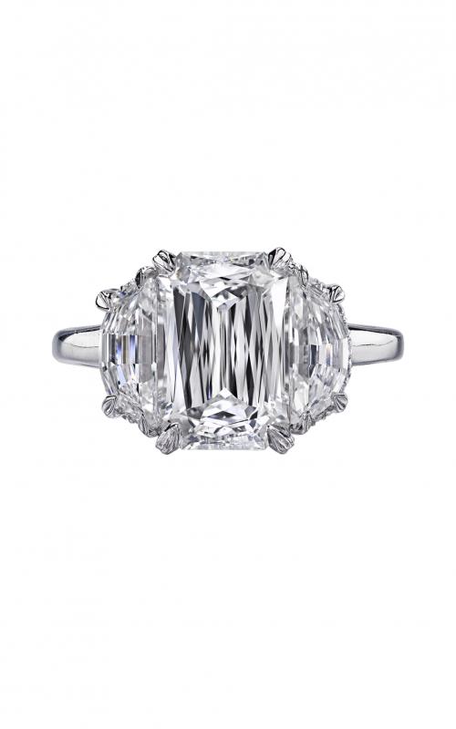 Christopher Designs Crisscut Emerald Engagement ring G86-EC300 product image