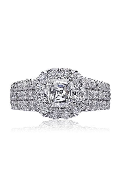Christopher Designs Crisscut Cushion Engagement ring G94F-3-CU100 product image
