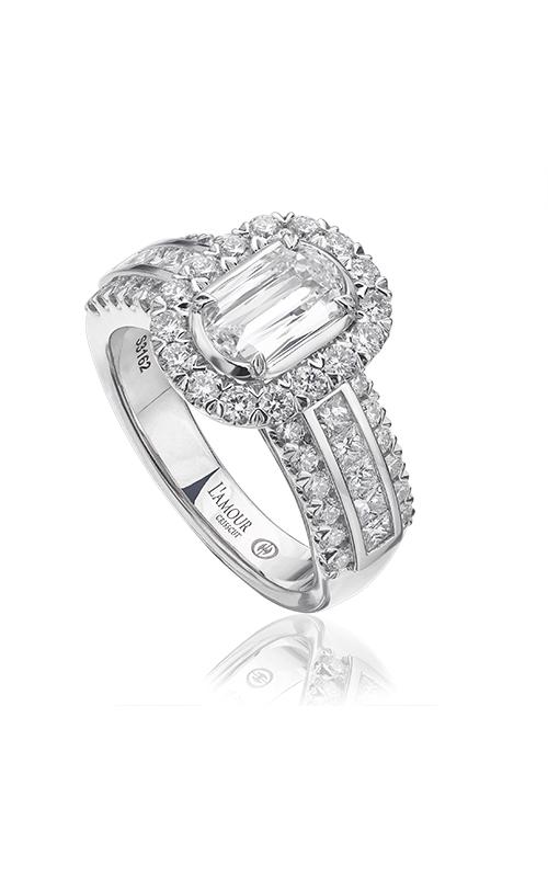 Christopher Designs Crisscut L'Amour Engagement ring L190-075 product image