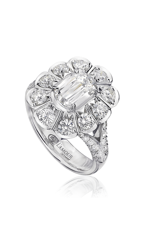 Christopher Designs Crisscut L'Amour Engagement ring L196A-100 product image