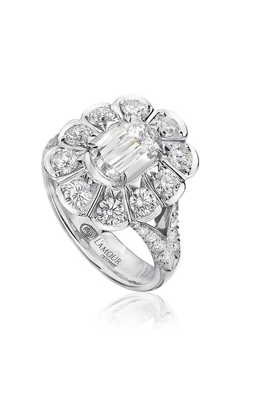 Christopher Designs Crisscut L'Amour Engagement ring L196A-100 product image