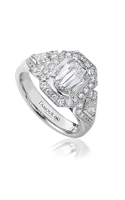 Christopher Designs Crisscut L'Amour Engagement ring L230-100 product image