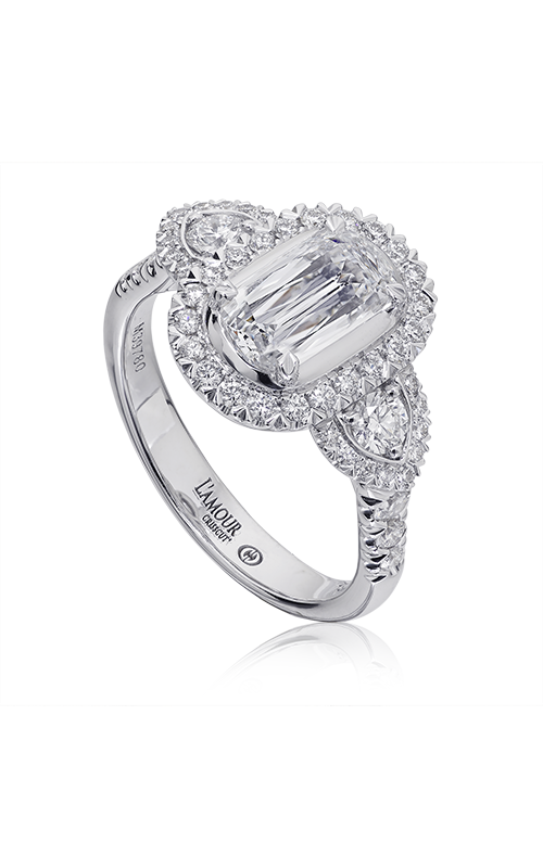 Christopher Designs Crisscut L'Amour Engagement ring L241-100 product image