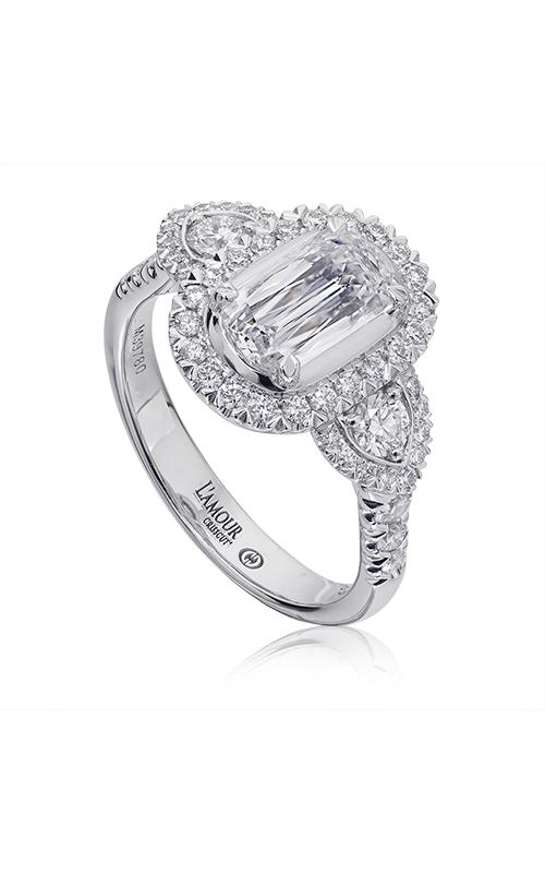 Christopher Designs Crisscut L'Amour Engagement ring L241-100 product image