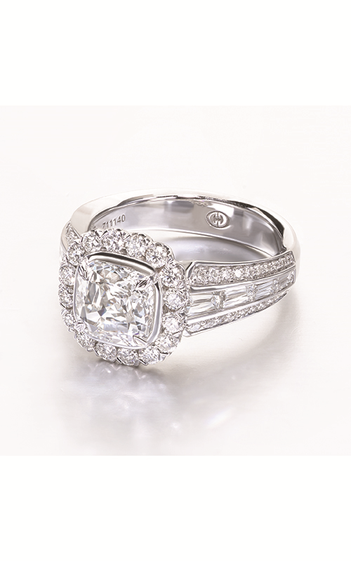 Christopher Designs Crisscut Cushion Engagement ring L229-CU200 product image