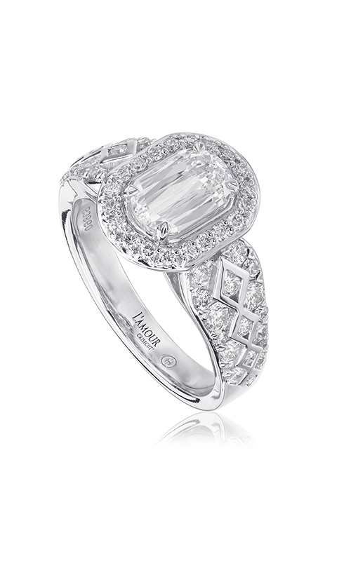 Christopher Designs Crisscut L'Amour Engagement ring L283-075 product image