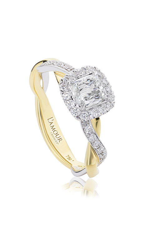 Christopher Designs Crisscut L'Amour Engagement ring L285-LCU050 product image