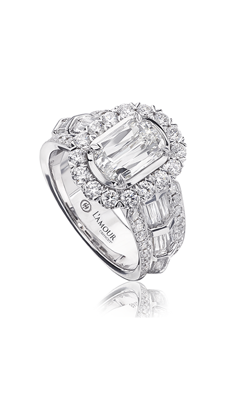 Christopher Designs Crisscut L'Amour Engagement ring L286-100 product image