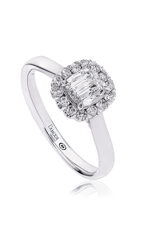 Christopher Designs Crisscut Cushion Engagement ring L506-LCU050 product image