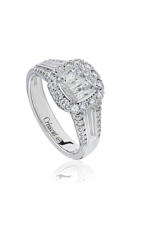 Christopher Designs Crisscut Cushion Engagement ring L508-LCU075 product image