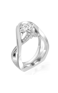 Claude Thibaudeau European Micro-Pave Engagement Ring PLT-1958-MP product image
