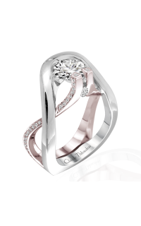Claude Thibaudeau European Micro-Pave Engagement Ring PLT-1884R-MP product image