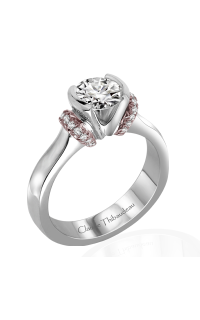 Claude Thibaudeau European Micro-Pave Engagement Ring PLT-1864R-MP product image