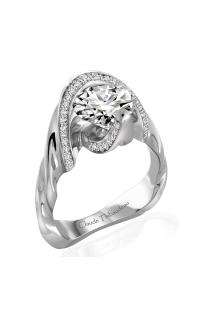 Claude Thibaudeau Avant-Garde Engagement Ring PLT-10030-MP product image