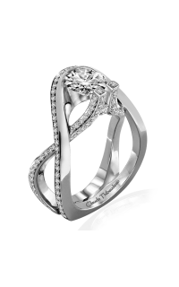 Claude Thibaudeau Avant-Garde Engagement Ring PLT-10017-MP product image