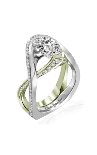 Claude Thibaudeau Avant-Garde Engagement Ring PLT-10131V-MP product image