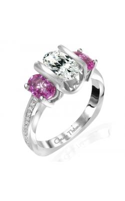 Claude Thibaudeau European Micro-Pave Engagement ring PLT-1966-MPR product image
