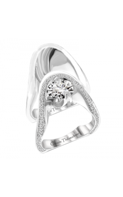 Claude Thibaudeau European Micro-Pave Engagement Ring PLT-1878-MP product image