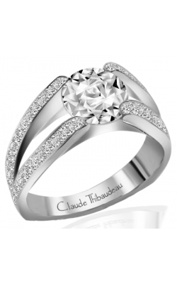Claude Thibaudeau European Micro-Pave Engagement Ring PLT-1196-MP product image