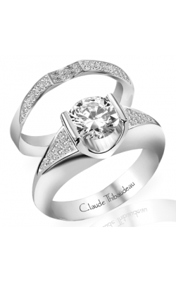 Claude Thibaudeau European Micro-Pave Engagement Ring PLT-1271-MP product image