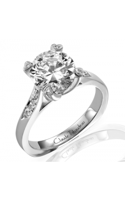 Claude Thibaudeau European Micro-Pave Engagement Ring PLT-1575-MP product image