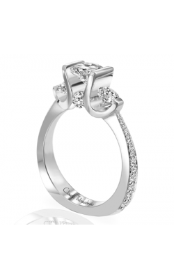 Claude Thibaudeau European Micro-Pave Engagement Ring PLT-1644-MP product image