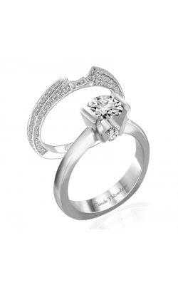 Claude Thibaudeau European Micro-Pave Engagement Ring PLT-1737 product image
