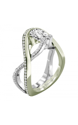 Claude Thibaudeau Avant-Garde Engagement Ring PLT-1981V-MP product image