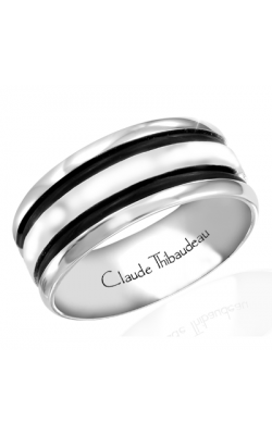 Claude Thibaudeau Black Hevea Men's Wedding Band PLT-1642-H product image